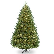 Natural Fraser 12' Green Medium Fir Artificial Christmas Tree with 1200 Colored & Clear Lights
