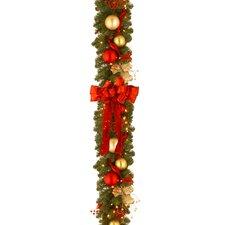Decorative Pre-Lit Cozy Christmas Garland