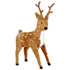 Standing Reindeer Christmas Decoration with 150 Clear Lights