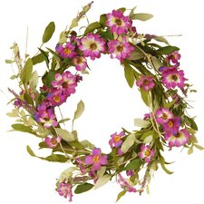 Floral Wreath with Daisy and Lavender