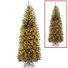 Kingswood 7.5' Green Fir Artificial Christmas Tree with 450 Colored and White Lights with Stand