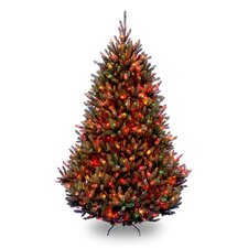 Natural Fraser 7.5' Medium Fir Artificial Christmas Tree with 1000 Multi-Colored Lights