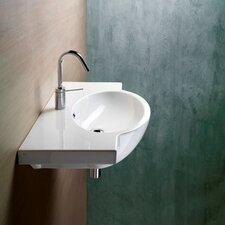 Panorama Modern Stylish Design Curved Wall Mounted Bathroom Sink