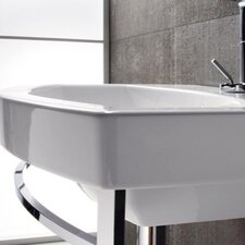 Losagna Modern Design Curved Ceramic Bathroom Sink