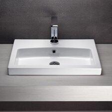 Losagna Rectangular Stylish Ceramic Bathroom Sink
