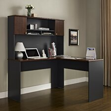 The Works L-Shape Executive Desk with Hutch