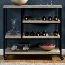 Altra Elmwood Kitchen Cart with Wooden Top