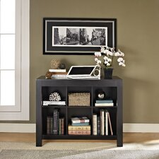 Parsons Credenza Desk with Drawer and Bookcase