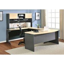 Benjamin U-Shape Computer Desk with Hutch