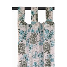 Autumn Blossom Tab Top Window Curtain Panel (Set of 2)