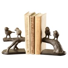 Bird on Branch Book Ends (Set of 2)