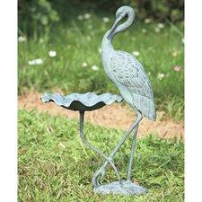 Crane Birdbath