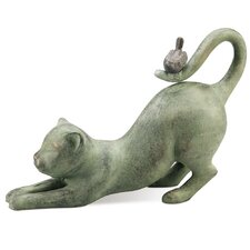 Bird Crouching Cat Figurine