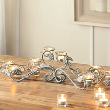 Leaf and Vine Metal Candelabra
