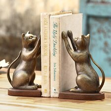 Inquisitive Cat Book Ends (Set of 2)