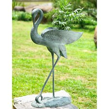 Crane Novelty Statue Planter