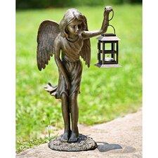 Angel Garden Lantern Statue