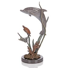 Turtle and Paradise Found Dolphin Figurine