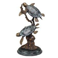 Large Sea Turtle Duet Figurine