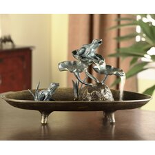 Frog Couple Table Fountain Figurine