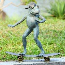 Radical Skateboarding Frog Garden Statue