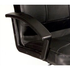 High-Back Leather Executive Chair with Lumbar Support