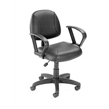 Adjustable Deluxe Posture Low-Back Office Chair with Loop Arms