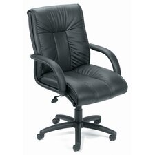 Contemporary Mid-Back Leather Conference Chair