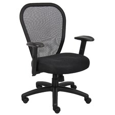 High-Back Professional Conference Mesh Chair with Arms