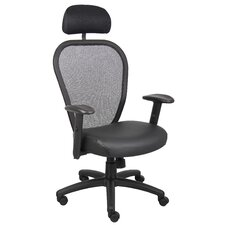 High-Back Professional Managers Mesh Chair with Headrest and Arms