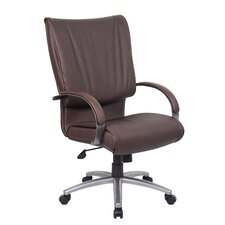 Mid-Back Leatherplus Conference Chair with Arms