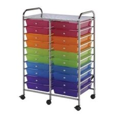 Blue Hills Studio Storage Cart with Twenty Multicolor Drawers