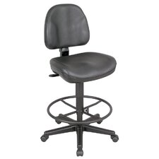 Backrest Leather Premo Ergonomic Drafting Chair