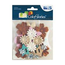 Colorstories Paper Potpourri Flowers (Set of 88)