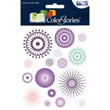 Colorstories Radial Cardstock Stickers (Set of 80)