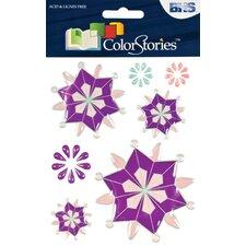 Colorstories Epoxy Snowflower Stickers (Set of 99)