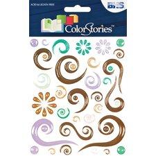 Colorstories Epoxy Swirl Stickers (Set of 189)