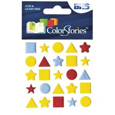 Colorstories Puffy Mesh Stickers (Set of 125)