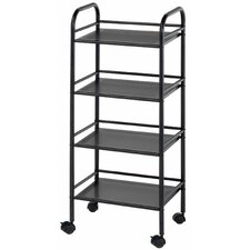 "Storage Cart 29.75"" H 4 Shelf Shelving Unit"