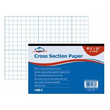 Cross Section Paper Grid Pad (Set of 100)