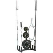 Olympic Bar and Plate Holder