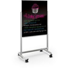 Visionary Move Mobile Magnetic Glass Board, 4' x 3'