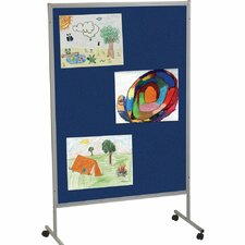 Portable Art Royal Hook and Loop Mobile Free Standing Bulletin Board, 7' x 4'