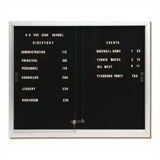 Deluxe Directory Wall Mounted Chalkboard
