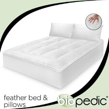 100% Cotton Feather Bed with Bonus Pillow