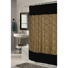 Animal Instincts Sable Faux Fur Trimmed Shower Curtain