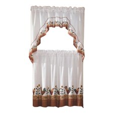 "Rooster 60"" 2 Piece Valance & Tier Set"