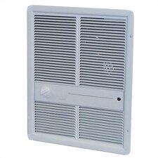 1,000 Watt Wall Insert Electric Fan Heater with Summer Fan Forced Switch