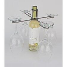 Wine Bottle 4 Stem Holder