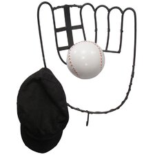 Hall of Fame Baseball Glove Coat Rack with Ball